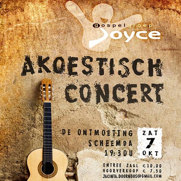 Akoestisch concert Gospelgroep Joyce